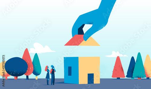 Ultimare la costruzione della prima casa stockfotos und lizenzfreie vektoren auf - Agevolazioni costruzione prima casa ...