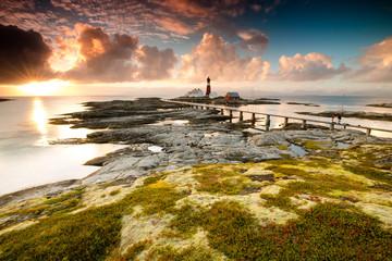 Lighthouse in sunset light