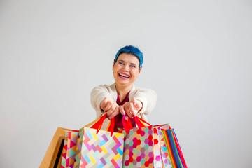 Senior woman shopping
