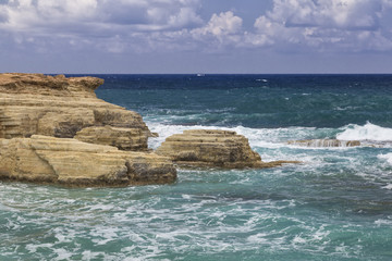 Seascape . The coast  near Paphos. Cyprus