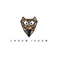 brown owl logo logotype theme vector