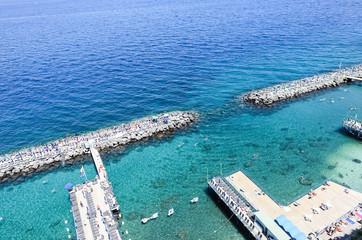 Seascape in Sorrento, Italy.
