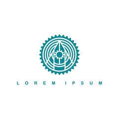 round circle native tribe sign symbol logo