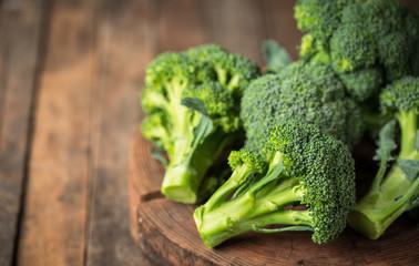 Fresh broccoli on the table