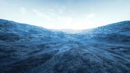 Surrealistic Wild Rocky Terrain