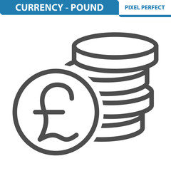 Currency - Pound Icon. EPS 8 format.