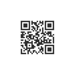 Sample Qr Code For Smartphone Scanning Icon Vector Illustration