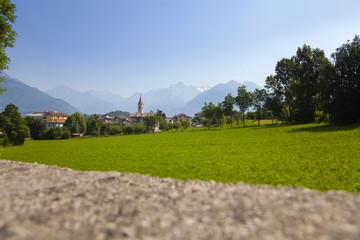 Colico city, lake Como, Italy