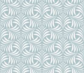 Seamless abstract floral pattern. Vector background. Blue