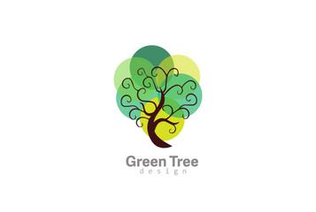 Tree Logo Abstract Design Vector