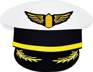 Pilot's hat. vector illustration