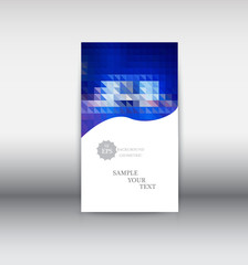 Vector abstract design web banner template. Web Design Elements - Header Design. Abstract geometric web banner template on grey background.