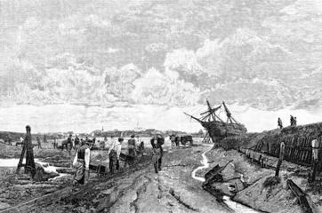 Kanalbau in den Hochmooren Ostfrieslands