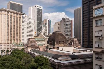 View of Rio de Janeiro City Downtown Buildings