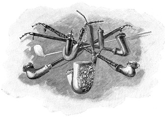 Darstellung von unterschiedlichen Pfeifenformen