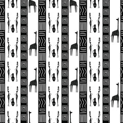 Ethnic seamless pattern. The African theme. Abstract vector ornament.