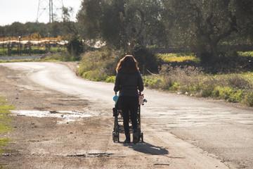 Walk in a desolate road
