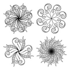 Set of Deco Small Circles. Patterned design