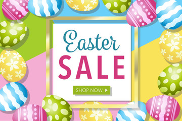 Easter Sale Eggs and Frame Retail Vector Illustration 2