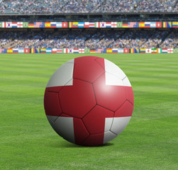 Soccer ball ball with the national flag of ENGLAND ball with stadium
