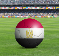 Soccer ball ball with the national flag of EGYPT ball with stadium