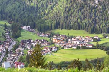 Selva village in South Tirol, Dolomites, Italy