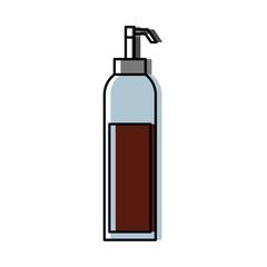 dispenser of sauce ingredient condiment vector illustration