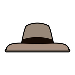 Vintage male hat icon vector illustration graphic design