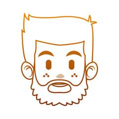 Man face cartoon vector illustration graphic design