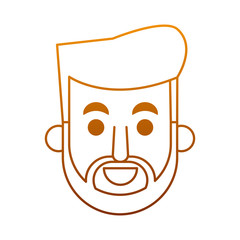Man face cartoon vector illustration graphic design