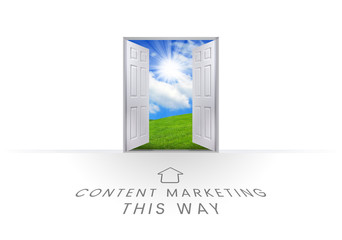 This Way Open Doorway - Content Marketing
