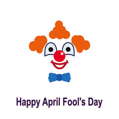 April fool's day. Colorful icon of a clown