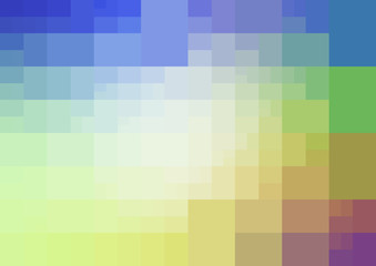 Light Multicolor vector polygonal design pattern. Consist of gradient rectangles in origami style.