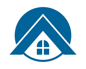blue roof house home housing residence residential real estate image vector icon logo symbol