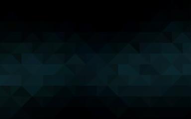 Dark BLUE vector abstract polygonal background.