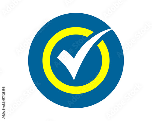 blue checklist sign shape image vector icon symbol logo stock image