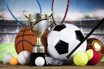 Trophy Winning, sport ball background