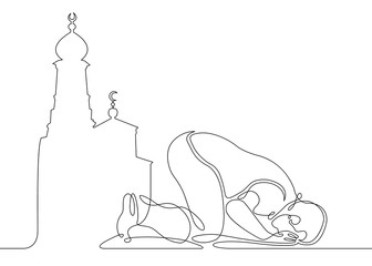 one line muslim