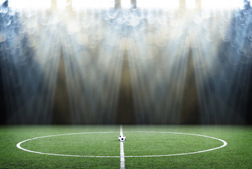 soccer field with sport light