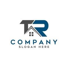 initial TR real estate logo vector