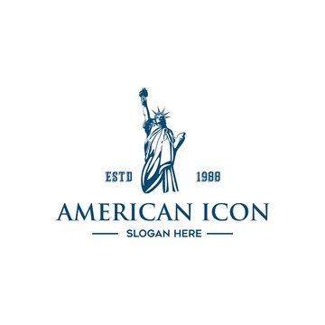 american icon logo vector