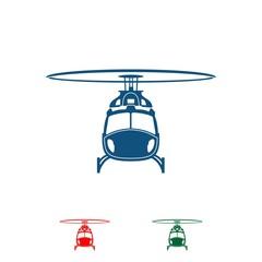 Helicopter logo design illustration