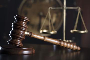 Law symbols. Lawyer concept.