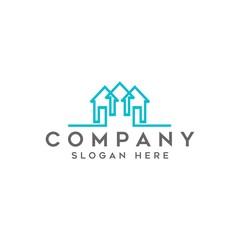 key real estate logo vector