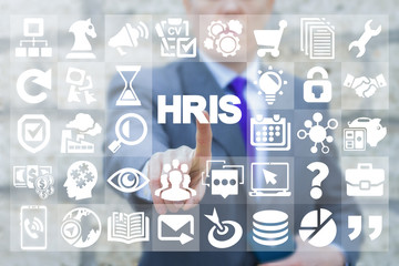 HRIS - Human Resources Information System. HR Web Business Office Innovative Windows Interface concept.