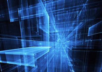 Fractal art - computer image, technological background
