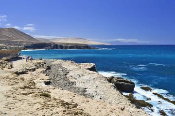 Rocky coastline at Ajuy, Fuerteventura, Canary Islands, Spain