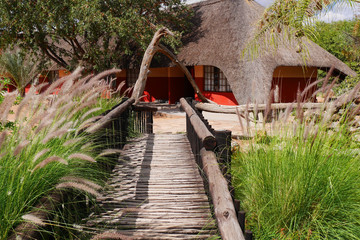 Traditonal african house. Namibia