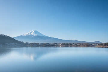 Fuji mountain in winter