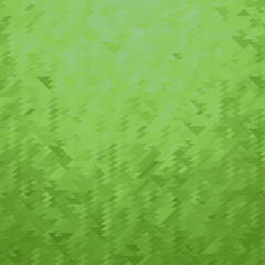 Green Polygonal Background. Triangular Pattern. Low Poly Texture. Abstract Mosaic Modern Design. Origami Style